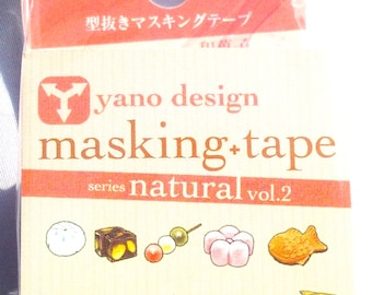 Japanese Washi Tape Yano Design Series Natural Masking Tape Volume 2 - Japanese sweets, Round top Washi Tape wholesale