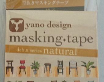Japanese Washi Tape Yano Design Debut Series Natural Chair Masking Tape, Round top Washi Tape wholesale