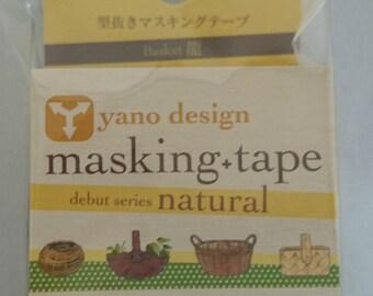 Japanese Washi Tape Yano Design Debut Series Natural Bamboo Basket Masking Tape, Round top Washi Tape wholesale