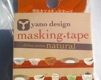 Japanese Washi Tape Yano Design Debut Series Natural Masking Tape - Japanese tableware, Round top Washi Tape wholesale