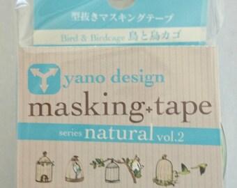 Japanese Washi Tape Yano Design Debut Series Natural Vol.2 Birdcage Masking Tape, Round top Washi Tape wholesale