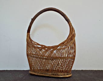 WOVEN BASKET fruit basket flower basket storage basket nostalgic farmhouse decor hamper basket picnic basket wicker basket