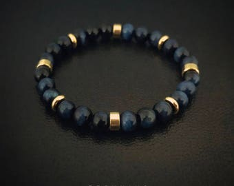 Blue Tiger Eye Petite Bracelet [5A]