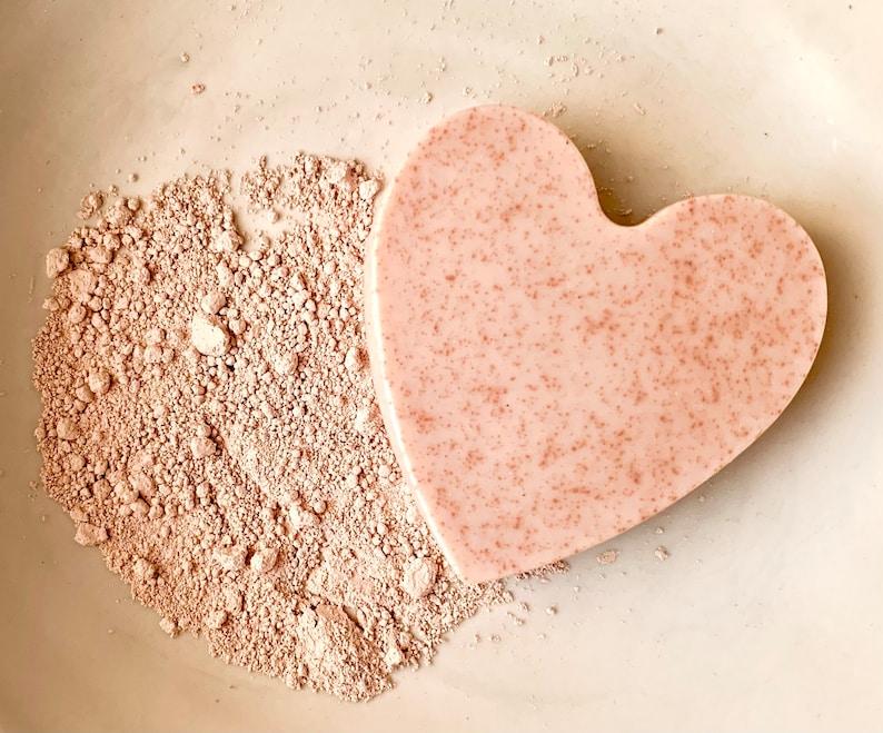 Heart Soap DIY Soap Making Kit Soap craft kit Natural soap Pink French Clay