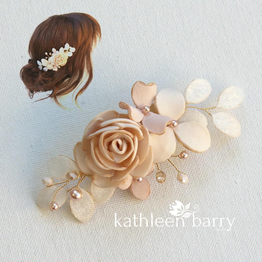 6a3f4a892a92 Blush rosa avorio Rose blush oro rosa capelli clip velo