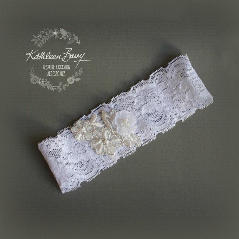 online store 8ac80 91eb8 Hochzeit Strumpfband - Braut Strumpfband - weiß - Spitze Strumpfband -  floralen Strumpfband Stil: Sian
