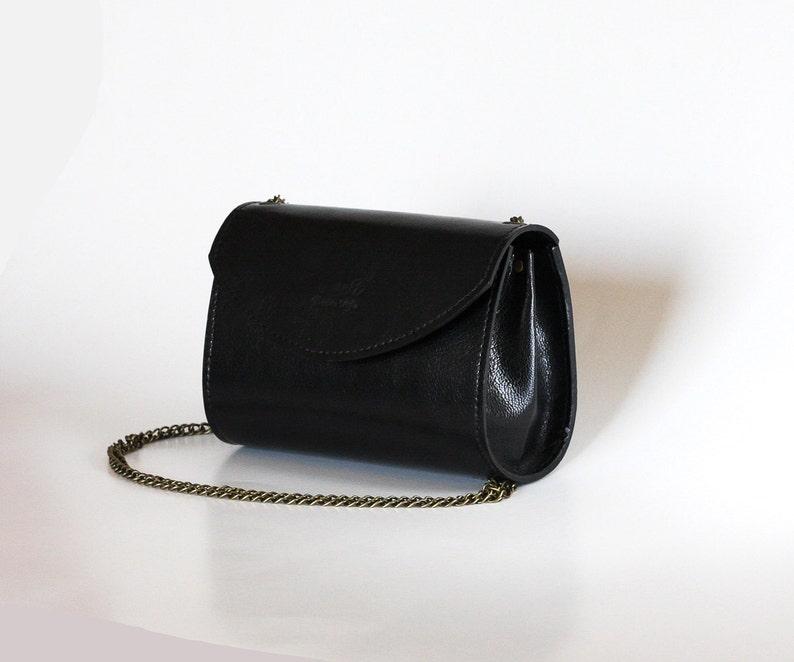 4cbefb22057c1 Black leather handbag Black purse Evening purse Small black
