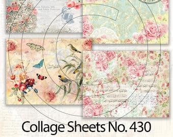 Collage Sheets/Tear Sheets, Junk Journal Ephemera, No. 430