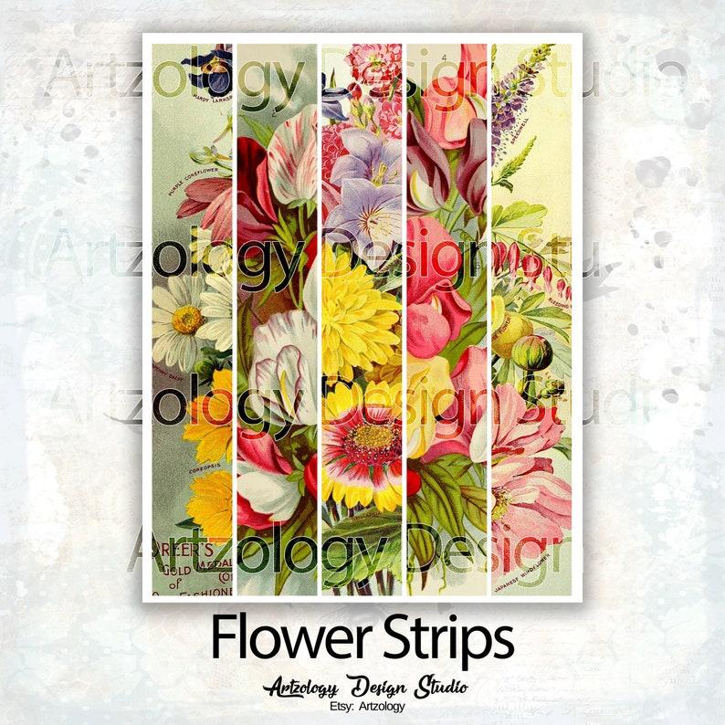 Junk Journal Supplies Flower Strips 237 No