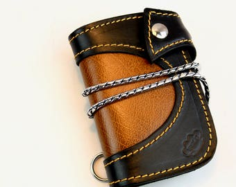 Mens Leather Wallet, Leather Wallet,  Handmade Bi-fold Leather Wallet, Leather Billfold Wallet  made by Claudio Nosari