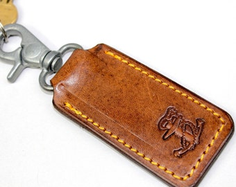 Anchor Leather Keyring, Key Holder, Key Ring, Key Chain, Key Hook, anchor, Rockabilly, Pirates, Leather Gift made by Claudio Nosari