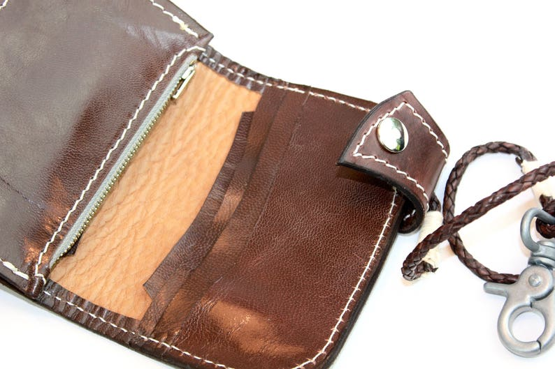 Tooled Leather Purse handmade in Northern Ireland by Claudio Nosari Green Leather Men Wallet Celtic Knot Leather Wallet