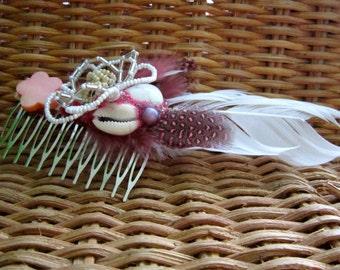 Flower Child Hair Comb Fascinator