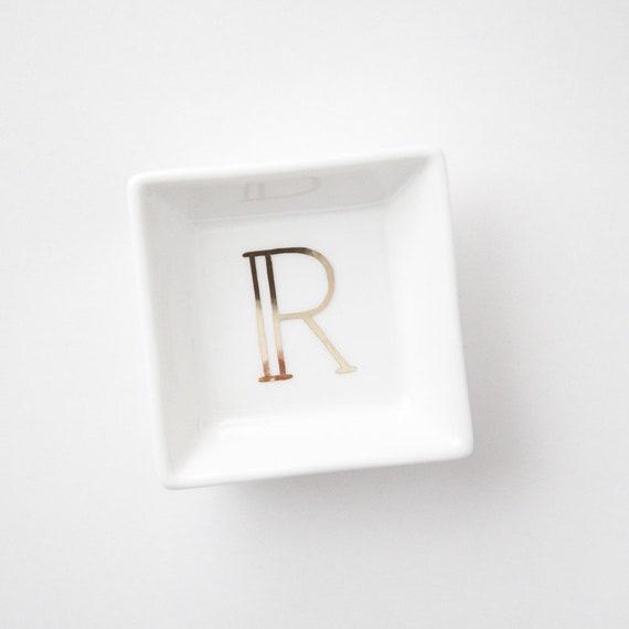 Wedding Gift Letter Ring Dish Bridesmaid Gift Bride Gift Etsy
