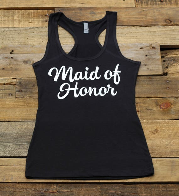 d74ec90415304d Maid of Honor Tank Tops Bachelorette Party Bridal Party