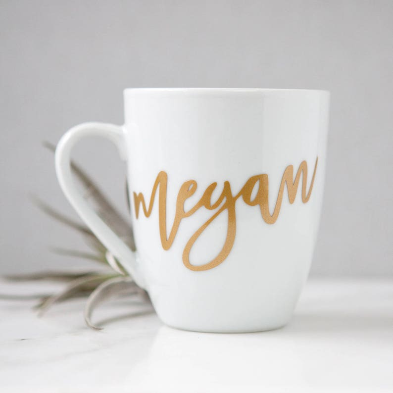 Custom Name Mug Personalized Name Mug Bridesmaid Gifts image 0