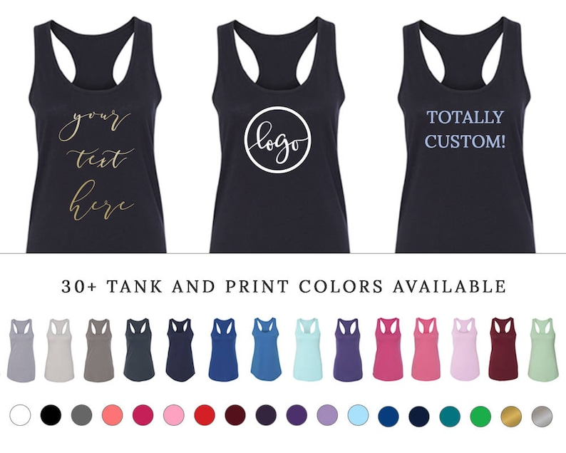c28804a7377b2d Personalized Tank Tops Bachelorette Party Bridal Party