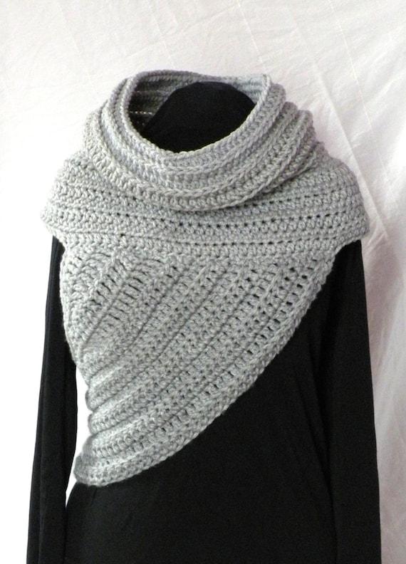 Crochet Pattern Huntress Cowl Shawl Asymmetrical Crossbody Etsy