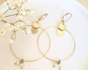Boucles d'oreilles bohème minimaliste poétique nature made in france //BOUTIQUE EN VACANCES//
