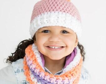 Kinder Schal Mütze Set Fleece Gefüttert Häkeln Motorhaube Etsy