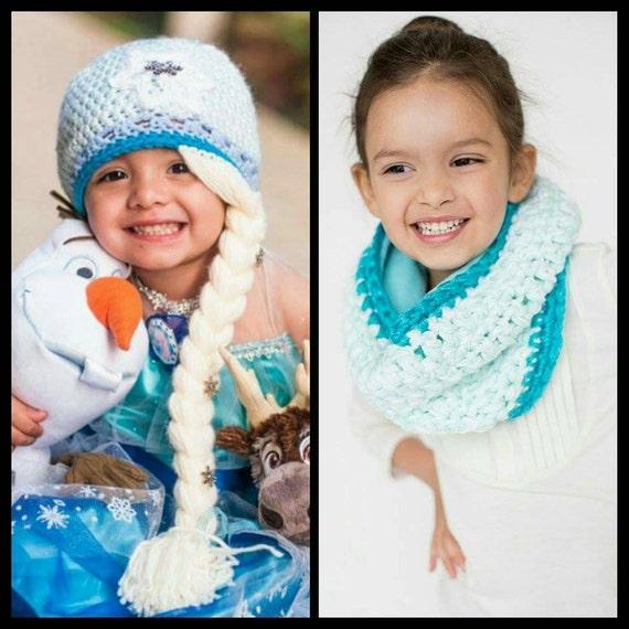 Kinder Häkeln Schal Mütze Set Disney Gefrorene Inspiriert Etsy