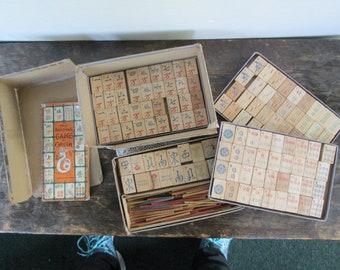 Vintage Mah Jong Set in Original Box