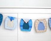 Owls bunting (5), Owl Garland, Owl Nursery Bunting - blue