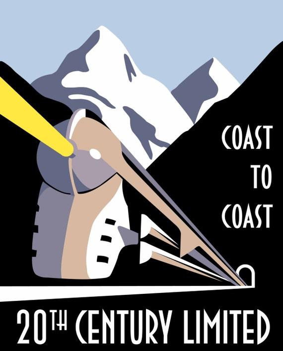 New York Central 20th CENTURY Henry Dreyfuss Hudson Train Poster Art Print 216