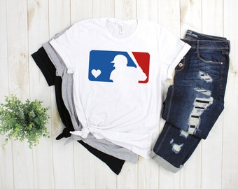 9f777fe3 MLB Shirt | Baseball Shirt | Women's Baseball Shirt | Baseball Love |  Baseball Mom | Baseball Gift | Women's Shirt