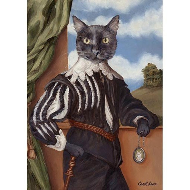 Black Cat Prints Cat Lover Gift Gag Gift Cat Print Cat image 0