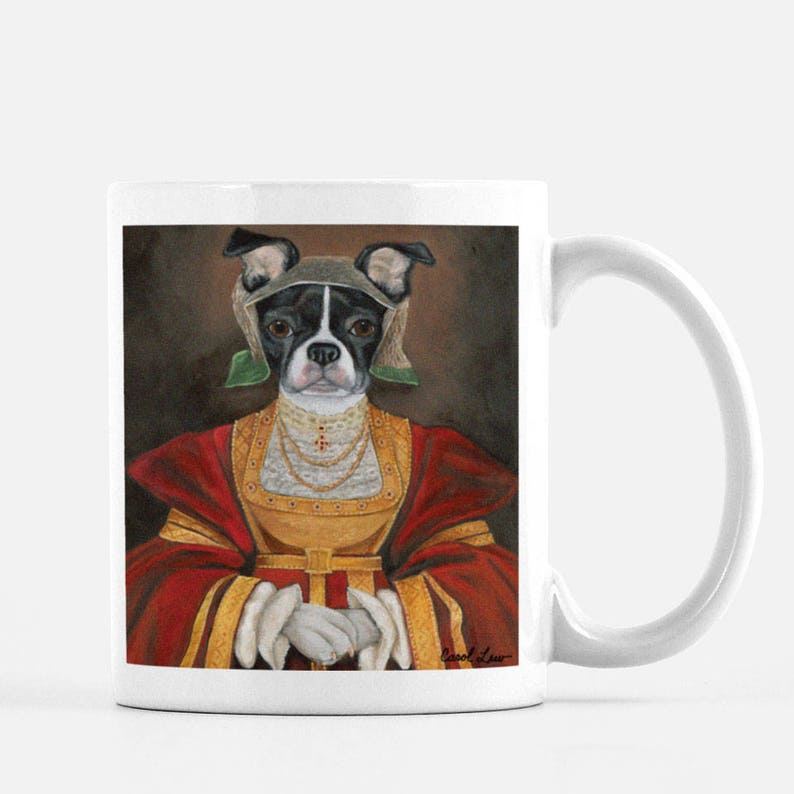 Boston Terrier Coffee Humor Mugs Funny Pet mug Dog Novelty image 0