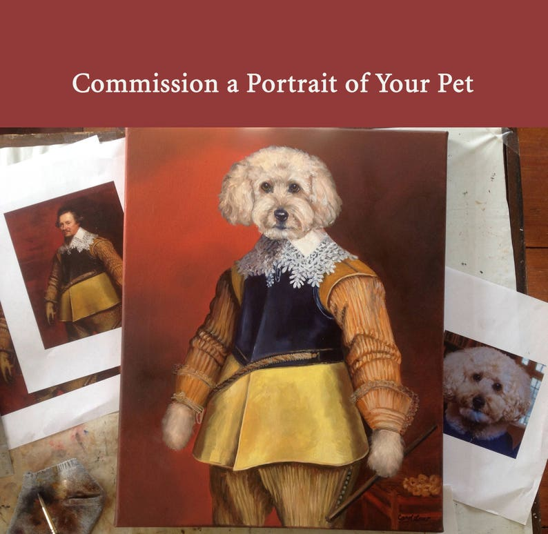 Portrait of Your Pet Painting From Photo Custom Portrait of image 0