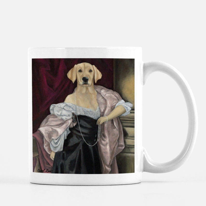Cute Animal Gift Mug Tea Mug Dog Gift Funny Dog Coffee Mug image 0