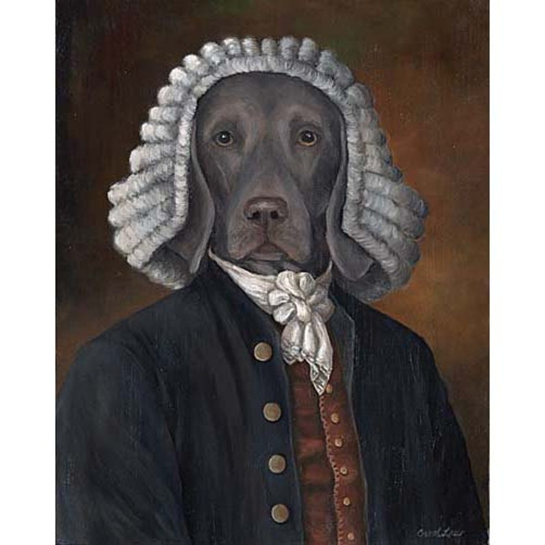 Weimaraner Art William Pettybone Prints Weimaraner Portrait image 0