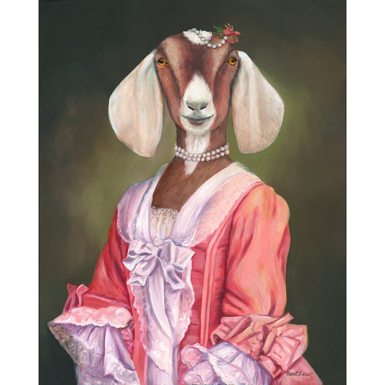 Goat Goat Art Canvas Prints Vintage Goat Art Goat Wall image 0