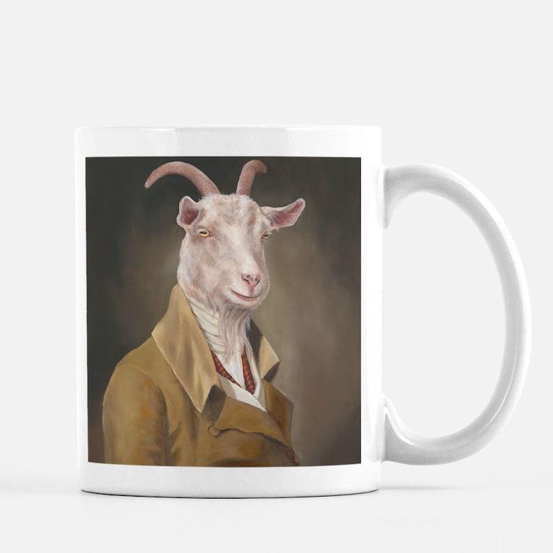 Funny Coffee Mug Goat Lover Gifts Farm Animal Mug Cute image 0