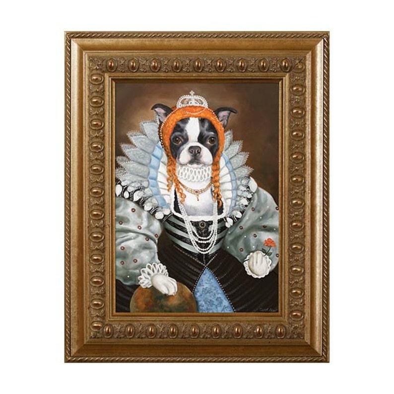 Dog Magnet Queen of Boston Boston Terrier Refrigerator image 0