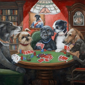 Dogs Playing Poker Prints Dogs Playing Cards Vintage Dog Art | Etsy