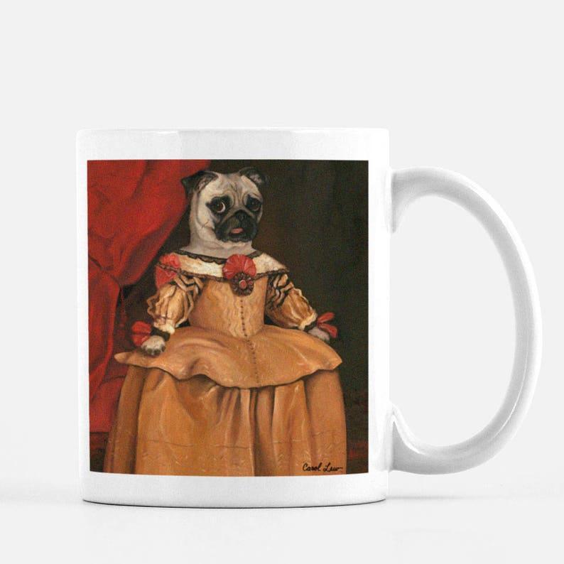 Pug Mug Pug Gifts Pug Mug Coffee Mug Pug Lover Gift image 0