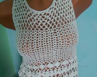 Crochet Dress Crochet white dress Summer crochet dress Wedding dress Shabby chic dress Boho dress Dentelle dress