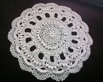 Doily Crocheted doily Round doily Napperon ronde au crochet