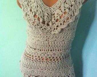 Dress Crochet dress Summer crochet dress Cotton crochet dress for summer Tunic dress Lace dress OOAK crochet dress Sexy crochet dress