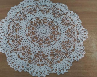 Doily Round crocheted doily Lovely home decor Lace crocheted doily