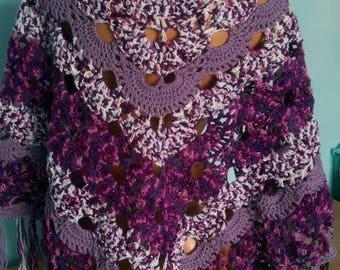 Shawl Crochet purple shawl Virus shawl Purple shawl