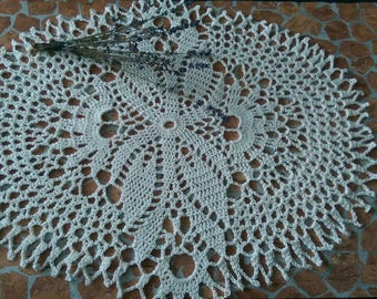 Doily Oval crocheted doily Large doily Center table