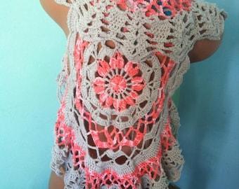Crochet mandala Vest Mandala doily vest for summer Flower mandala vest Crochet vest Crochet cover Summer crocheted vest
