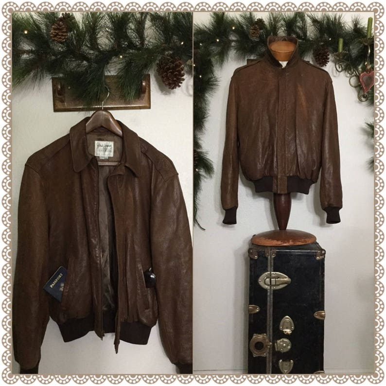 6941b3dd22 Vintage 70s PETER JAMES Lambskin Leather Designs San Francisco Brown Soft  Rustic Country Southwestern Apocalyptic Bomber Motorcycle Jacket!