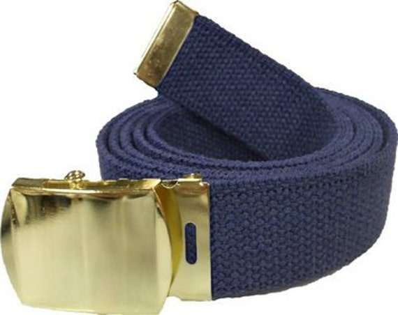 6 Finishes and 12 Sizes Pick from 43 Colors 2-1.25 Canvas Military Web Belt