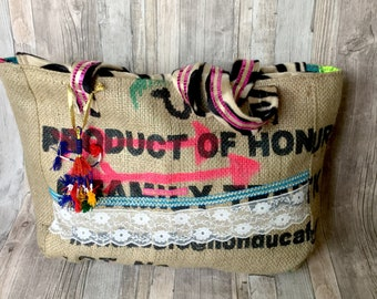 Boho Style Bag with Zebra Print Colorful Bohemian Beach Bag Handmade Traditional Wedding Gift For Her