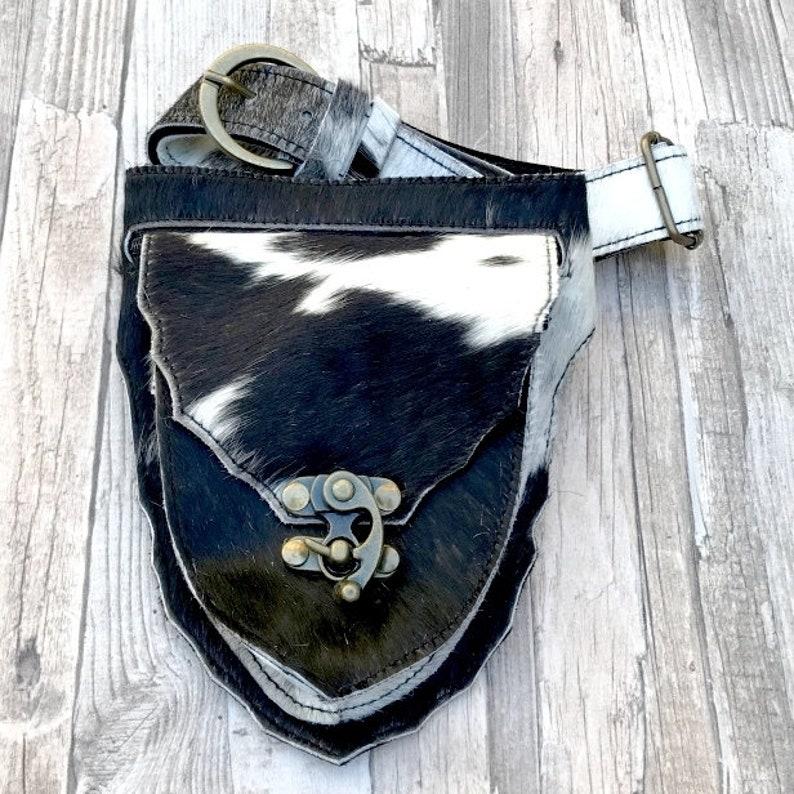 Leather Hip Bag Gypsy Festival Bag  Boho Fanny Pack  Waist image 0
